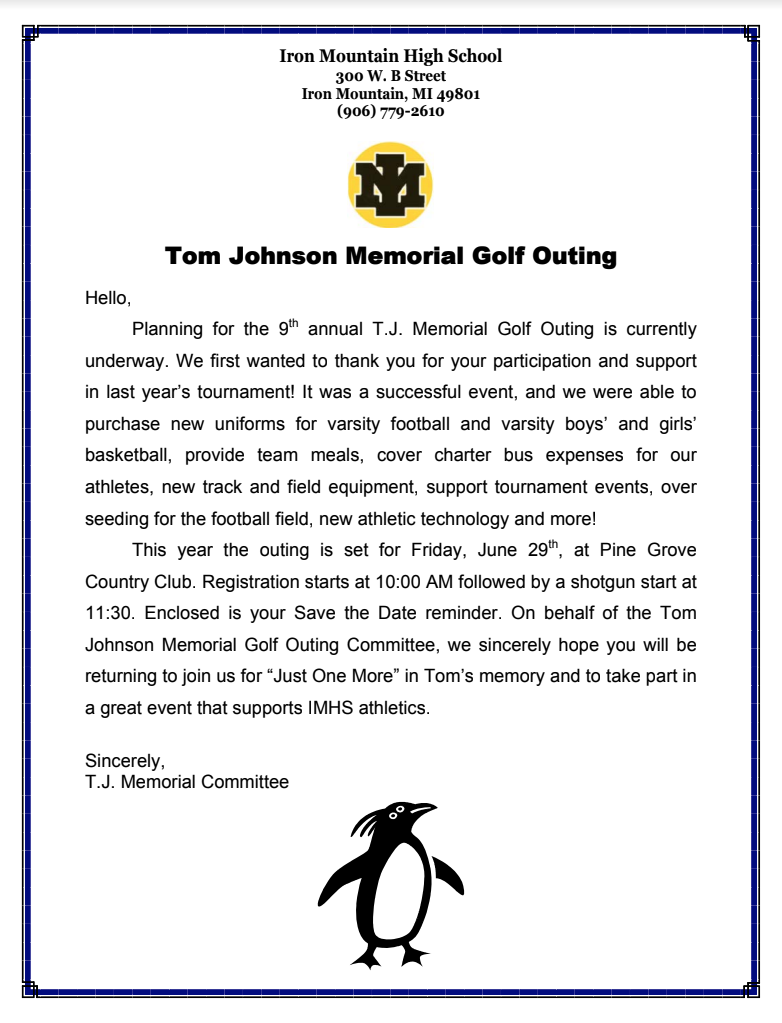 TJ Memorial Information Friday June 29th at Pine Grove